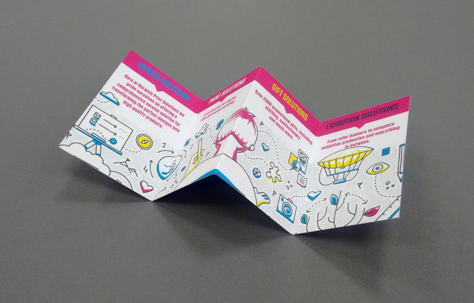Folded business cards printed in Norwich