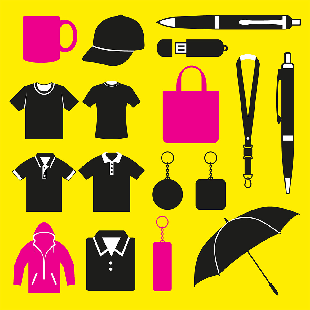 Promotional items from Norwich Print Solutions.